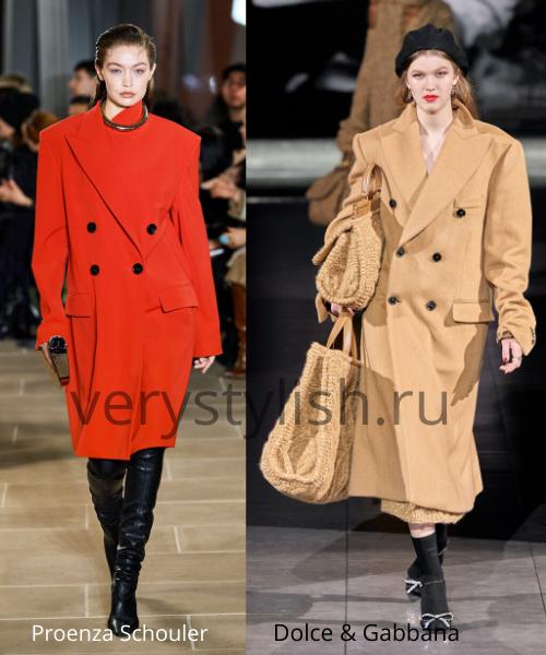 модные пальто осень-зима 2020/21 фото №7