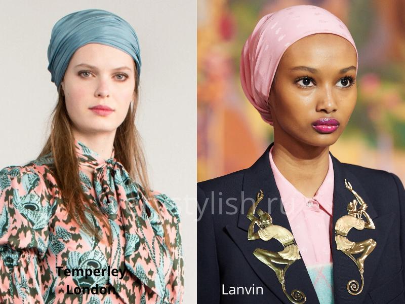 Модные головные уборы осень-зима 2020/21 фото №36