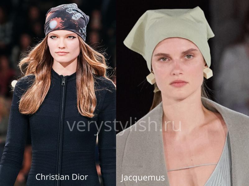 Модные головные уборы осень-зима 2020/21 фото №37