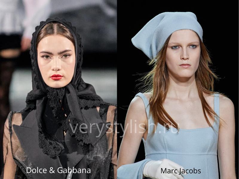 Модные головные уборы осень-зима 2020/21 фото №38
