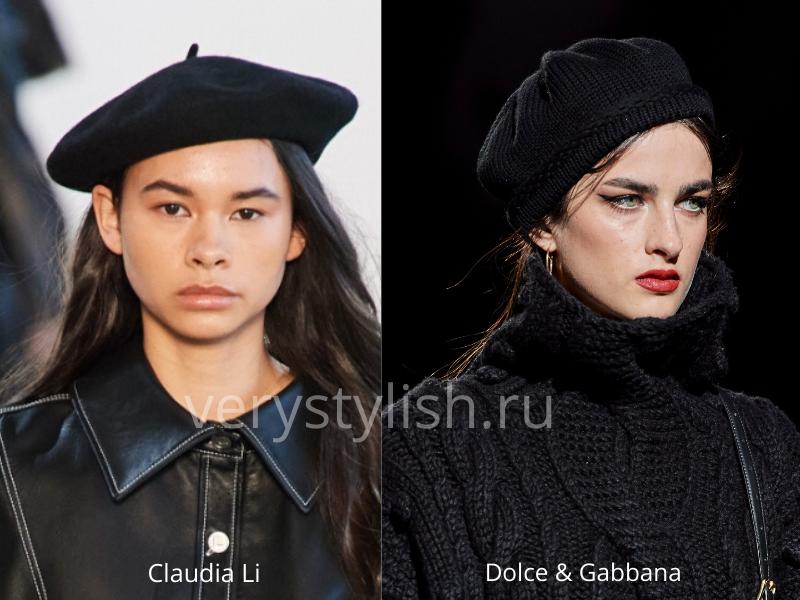 Модные головные уборы осень-зима 2020/21 фото №44