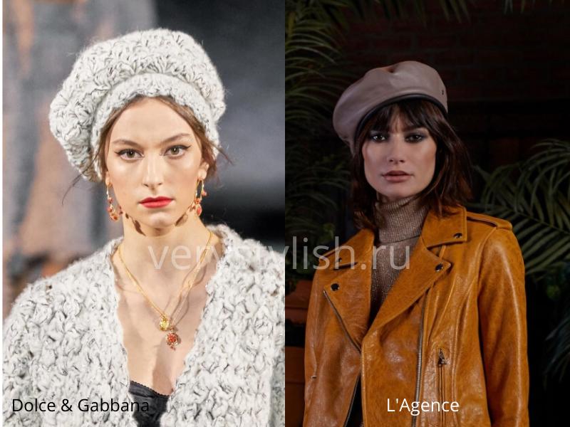 Модные головные уборы осень-зима 2020/21 фото №46