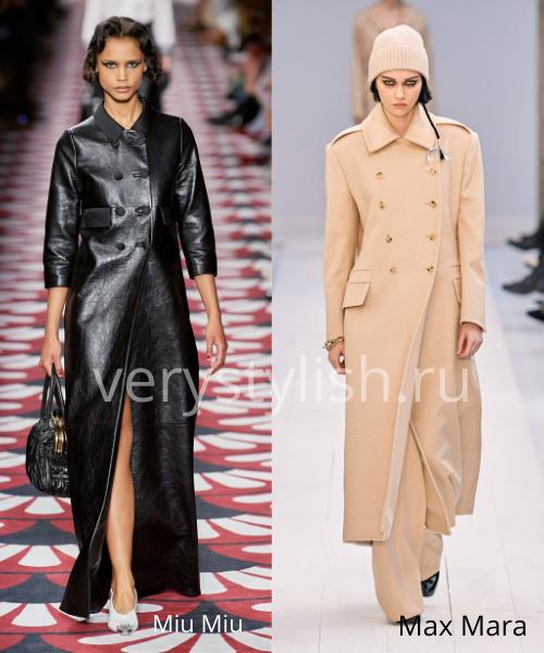 модные пальто осень-зима 2020/21 фото №14