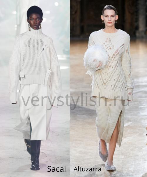 Модные свитеры осень-зима 2020/21 фото №32