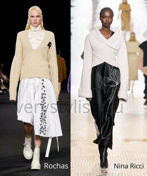 Модные свитеры осень-зима 2020/21 фото №17