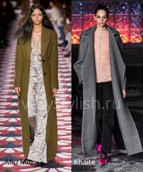 модные пальто осень-зима 2020/21 фото №11