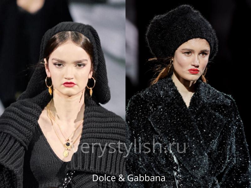 Модные головные уборы осень-зима 2020/21 фото №23