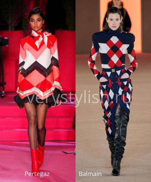 геометрический принт - модный тренд сезона осень-зима 2020/21 Фото №2