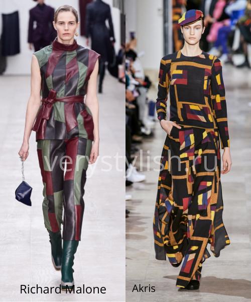 геометрический принт - модный тренд сезона осень-зима 2020/21 Фото №6