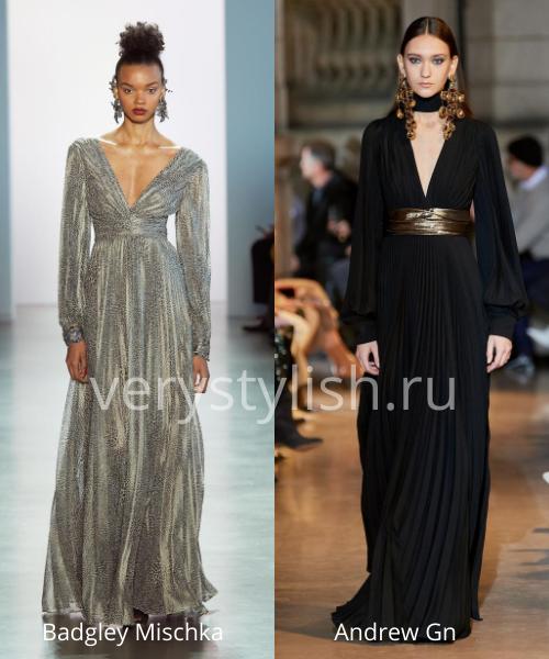 Модные вечерние платья осень-зима 2020/21. Фото № 35