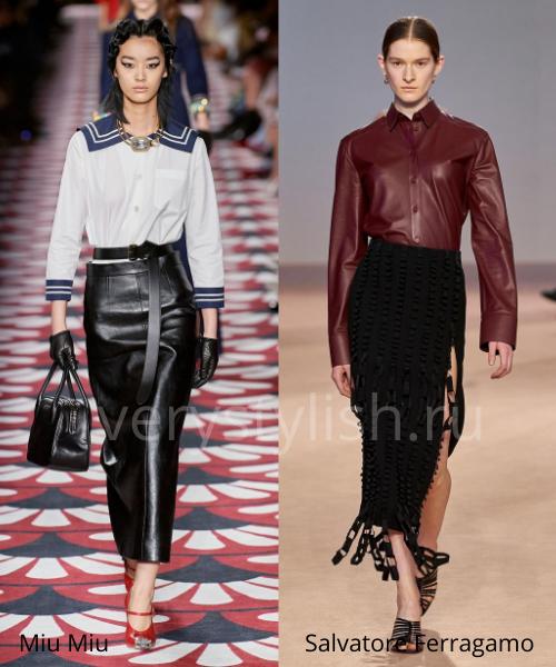 Модные юбки осень-зима 2020/21. Фото № 2