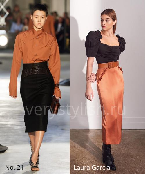 Модные юбки осень-зима 2020/21. Фото № 5
