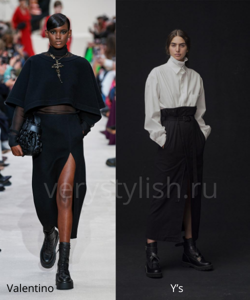 Модные юбки осень-зима 2020/21. Фото № 13