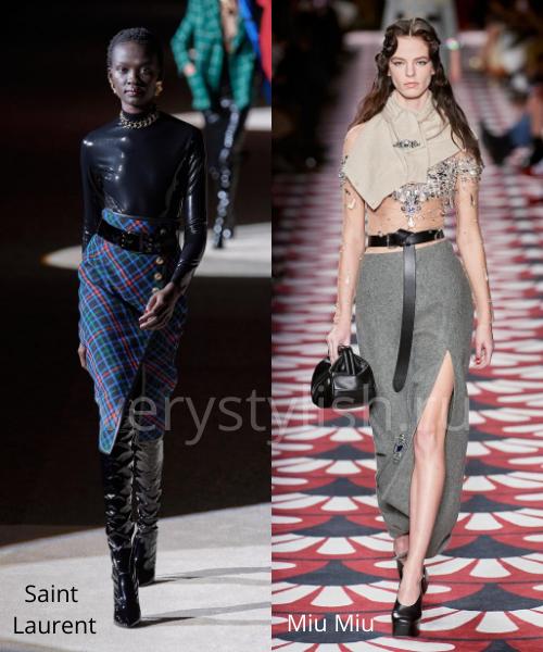 Модные юбки осень-зима 2020/21. Фото № 11