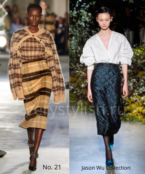 Модные юбки осень-зима 2020/21. Фото № 3
