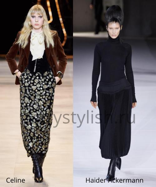 Модные юбки осень-зима 2020/21. Фото № 43