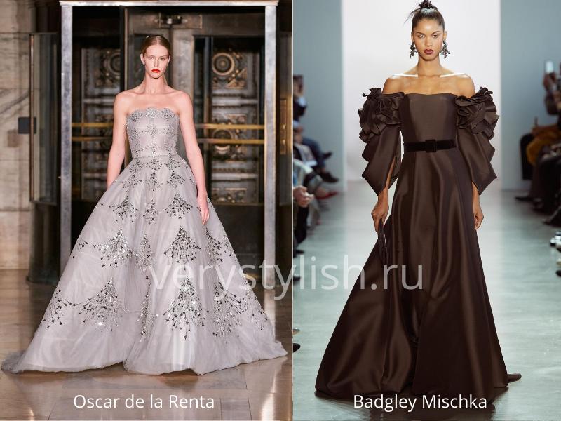 Модные вечерние платья осень-зима 2020/21. Фото № 46