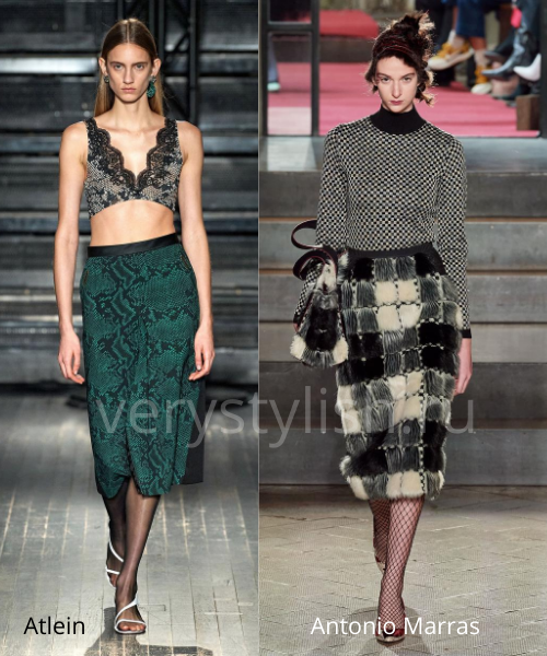 Модные юбки осень-зима 2020/21. Фото № 4
