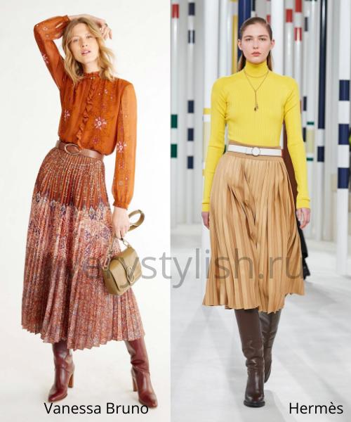 Модные юбки осень-зима 2020/21. Фото № 14