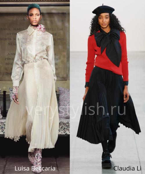 Модные юбки осень-зима 2020/21. Фото № 15
