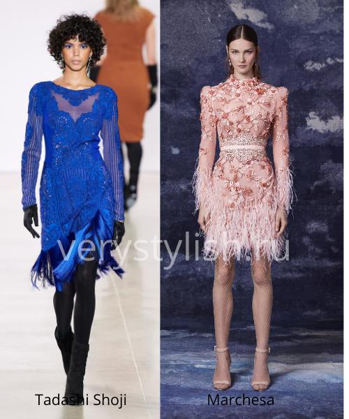 Модные вечерние платья осень-зима 2020/21. Фото № 7