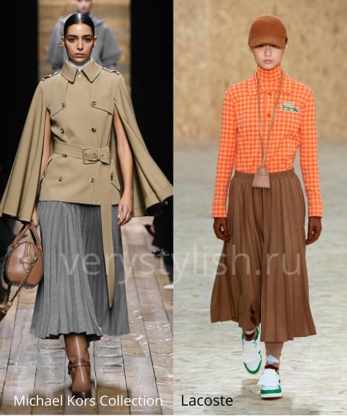Модные юбки осень-зима 2020/21. Фото № 17