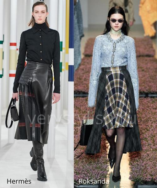 Модные юбки осень-зима 2020/21. Фото № 16