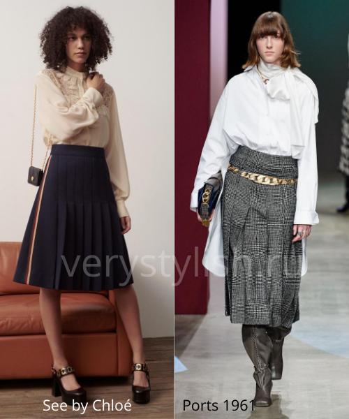 Модные юбки осень-зима 2020/21. Фото № 18