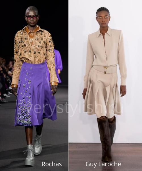 Модные юбки осень-зима 2020/21. Фото № 21