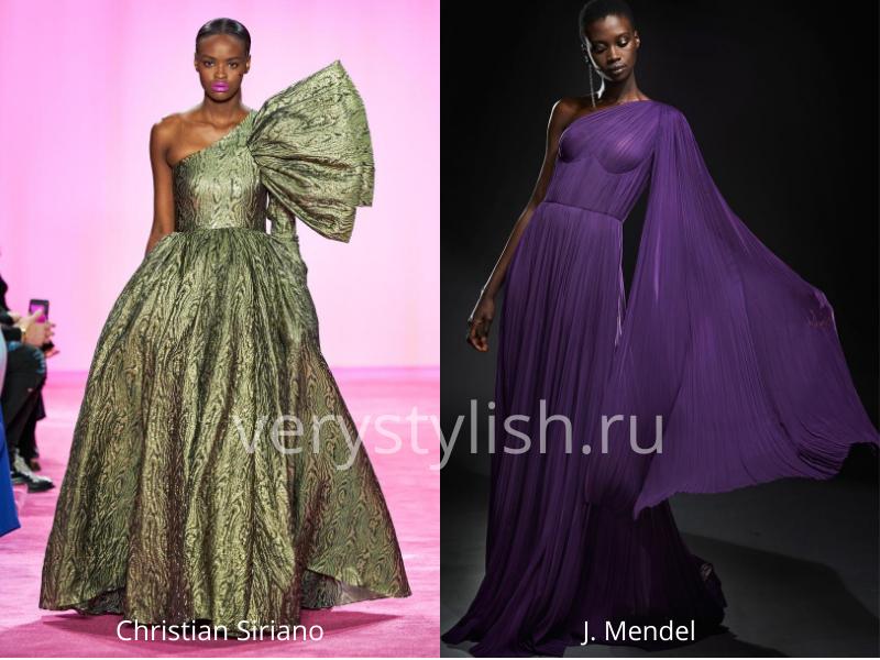 Модные вечерние платья осень-зима 2020/21. Фото № 42