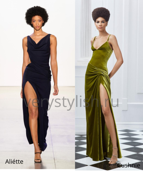 Модные вечерние платья осень-зима 2020/21. Фото № 14