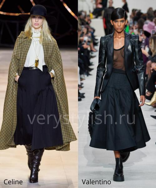 Модные юбки осень-зима 2020/21. Фото № 23