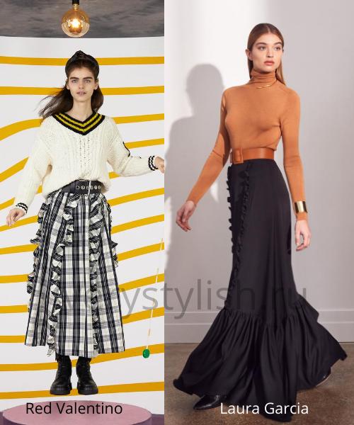 Модные юбки осень-зима 2020/21. Фото № 42