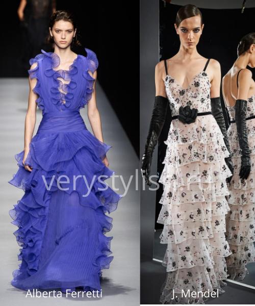 Модные вечерние платья осень-зима 2020/21. Фото № 39