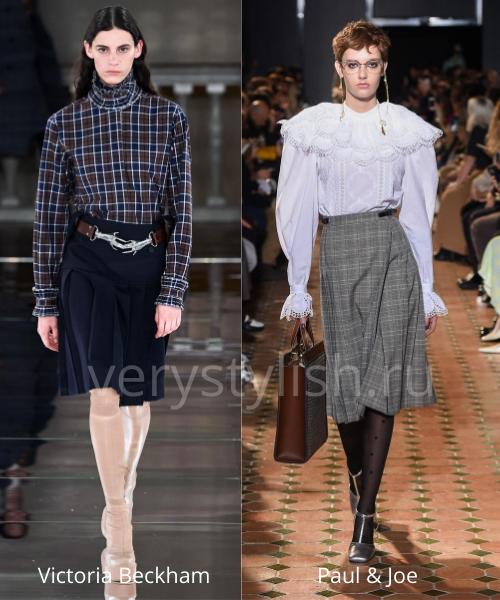 Модные юбки осень-зима 2020/21. Фото № 24