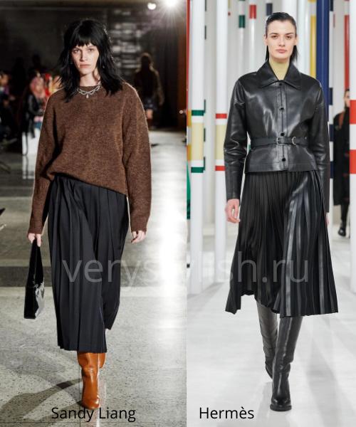Модные юбки осень-зима 2020/21. Фото № 19