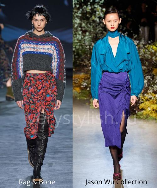 Модные юбки осень-зима 2020/21. Фото № 12