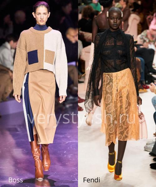 Модные юбки осень-зима 2020/21. Фото № 25