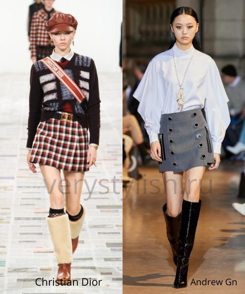 Модные юбки осень-зима 2020/21. Фото № 36