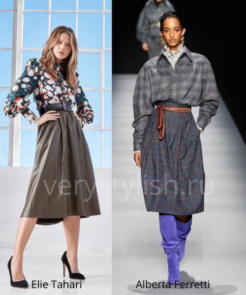 Модные юбки осень-зима 2020/21. Фото № 26