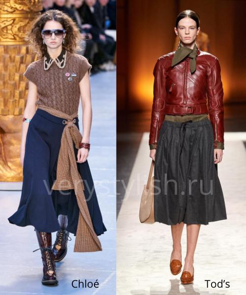 Модные юбки осень-зима 2020/21. Фото № 27