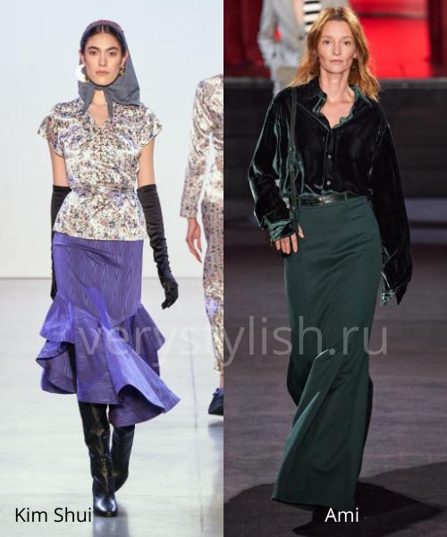 Модные юбки осень-зима 2020/21. Фото № 8