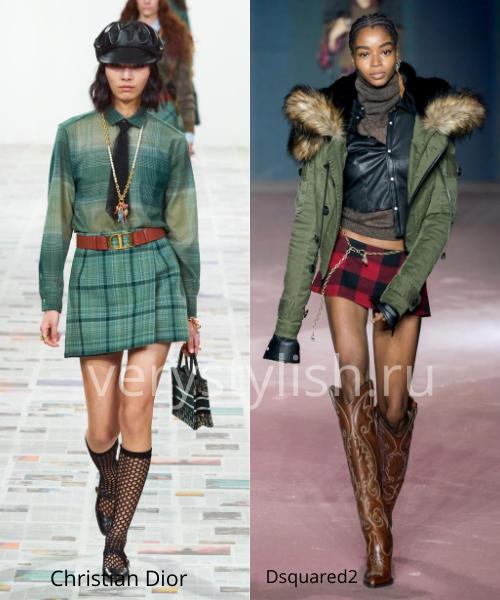 Модные юбки осень-зима 2020/21. Фото № 38