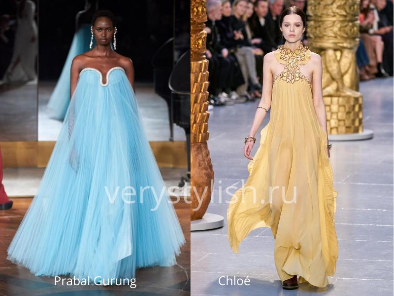 Модные вечерние платья осень-зима 2020/21. Фото № 38