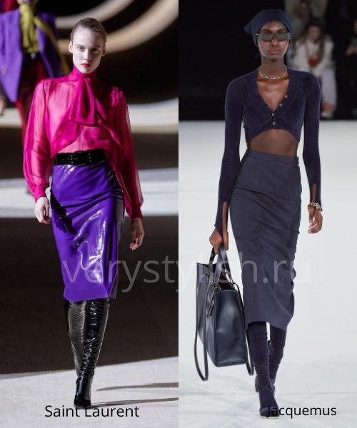 Модные юбки осень-зима 2020/21. Фото № 6