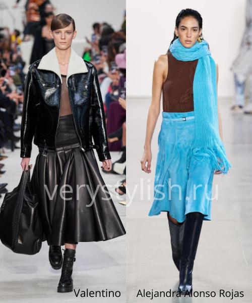 Модные юбки осень-зима 2020/21. Фото № 28
