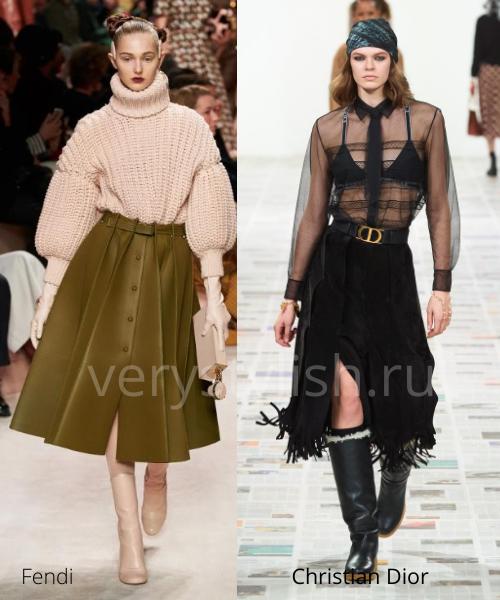Модные юбки осень-зима 2020/21. Фото № 29