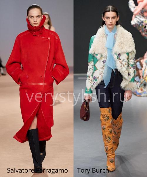 Модные дублёнки осень-зима 2020/21. Фото № 11