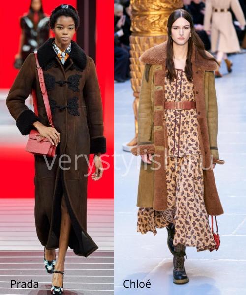 Модные дублёнки осень-зима 2020/21. Фото № 8