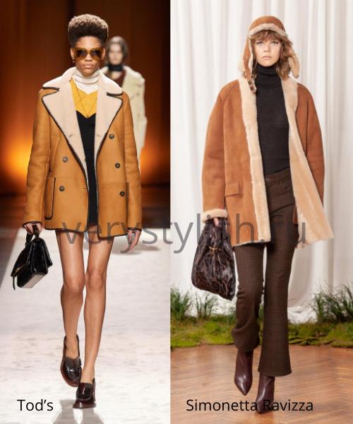 Модные дублёнки осень-зима 2020/21. Фото № 2